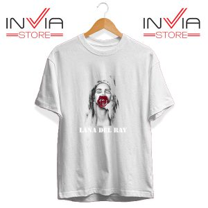 Buy Tshirt Lana Del Rey Rose Red Tee Shirt Size S-3XL White