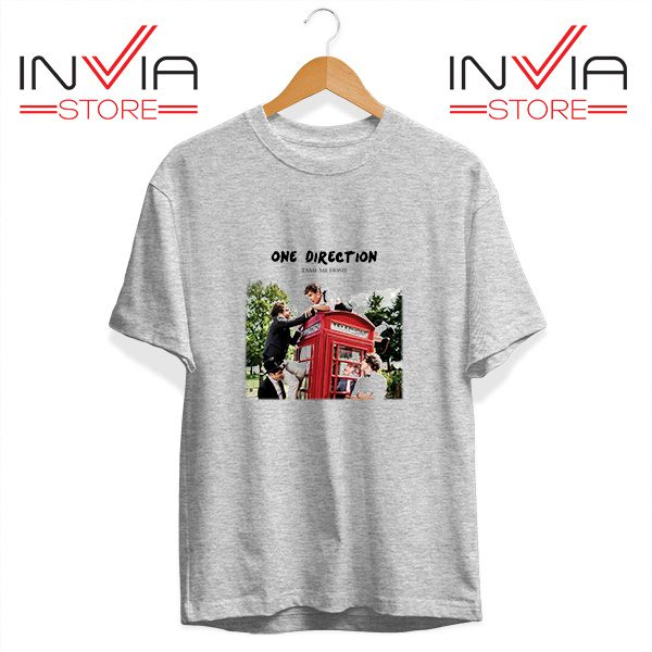 Buy Tshirt One Direction Telephone Booth Tee Shirt Size S-3XL grey