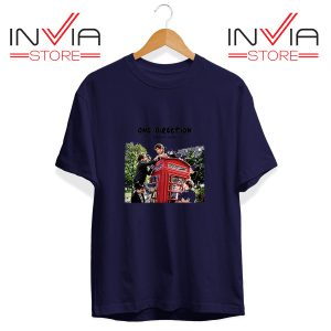 Buy Tshirt One Direction Telephone Booth Tee Shirt Size S-3XL Navy