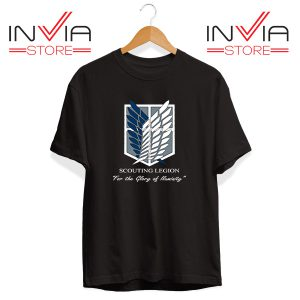 Buy Tshirt Pierce Attack On Titan Tee Shirt Size S-3XL Black