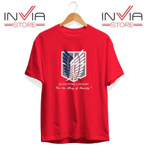Buy Tshirt Pierce Attack On Titan Tee Shirt Size S-3XL Red