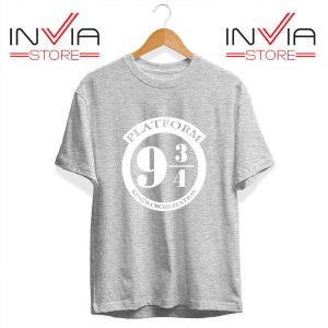 Buy Tshirt Platform 9 3/4 Harry Potter Tee Shirt Size S-3XL Grey