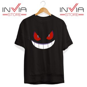 Buy Tshirt Pokemon Gengar Evolution Tee Shirt Size S-3XL Black