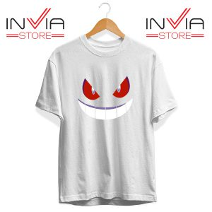 Buy Tshirt Pokemon Gengar Evolution Tee Shirt Size S-3XL White