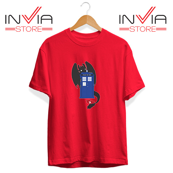 Buy Tshirt Toothless Dragon Telephone Booth Tee Shirt Size S-3XL Red