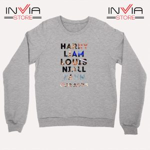 Buy Sweatshirt Harry Liam Louis Niall Zayn Sweater Size S-XL Grey