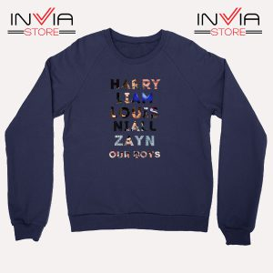 Buy Sweatshirt Harry Liam Louis Niall Zayn Sweater Size S-XL Navy