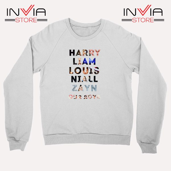 Buy Sweatshirt Harry Liam Louis Niall Zayn Sweater Size S-XL White
