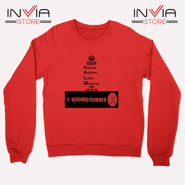 Buy Sweatshirt Nickname Personil 5 Sos Sweater Size S-XL Red