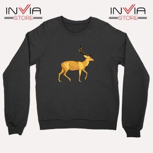 Buy Sweatshirt The Mountain Deer Sweater Size S-XL Black