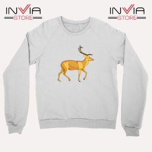 Buy Sweatshirt The Mountain Deer Sweater Size S-XL White