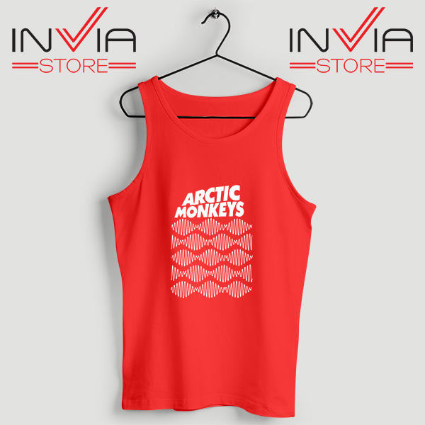 Buy Tank Top Arctic Monkeys Wave Noise Popular Size S-3XL Red