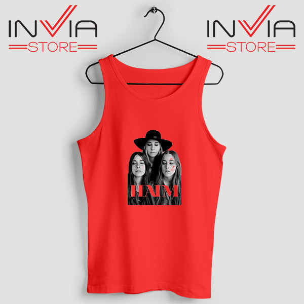 Buy Tank Top Haim The Band Merch Custome Size S-XL Red