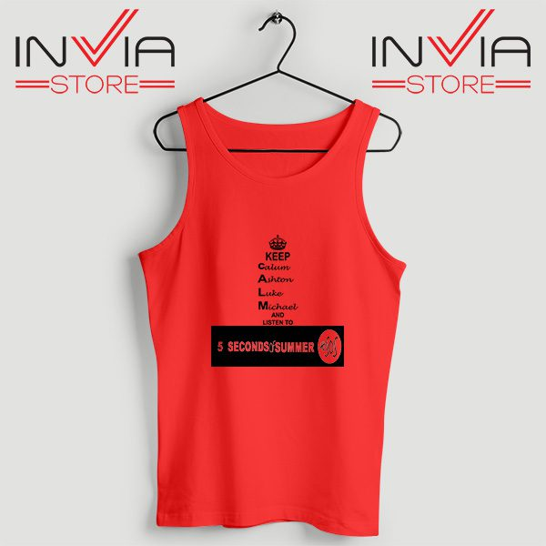 Buy Tank Top Nickname Personil 5 Sos Custome Size S-XL Red