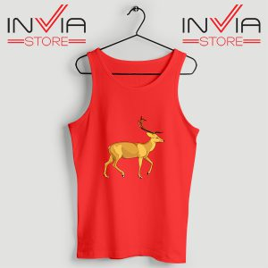 Buy Tank Top The Mountain Deer Custom Size S-XL Red