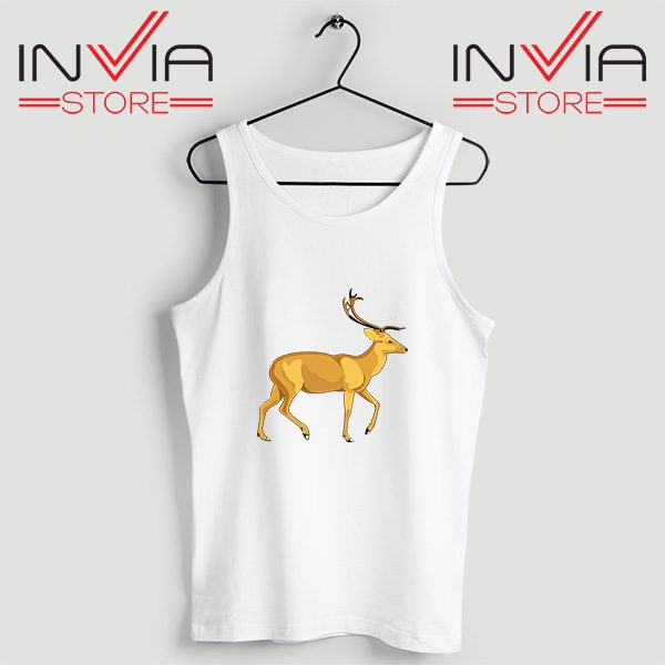 Buy Tank Top The Mountain Deer Custom Size S-XL White