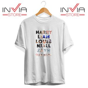 Buy Tshirt Harry Liam Louis Niall Zayn Tee Shirt Size S-3XL White