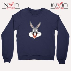 Buy Sweatshirt Bugs Bunny Looney Tunes Sweater Size S-XL Navy