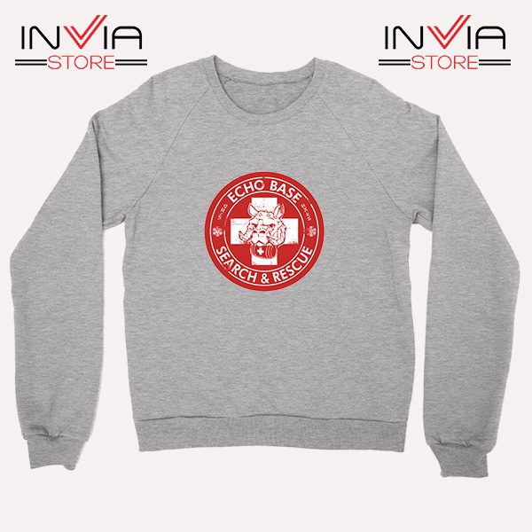 Buy Sweatshirt Echo Base Search And Rescue Sweater Size S-XL Grey