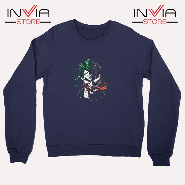 Buy Sweatshirt Joker Venom DC Parody Sweater Size S-XL Navy