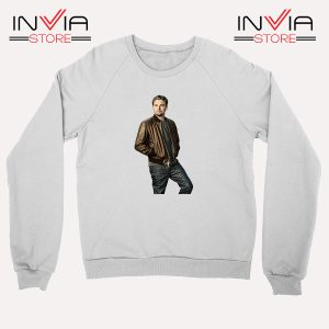 Buy Sweatshirt Leonardo DiCaprio Inspired by Actor Size S-XL White