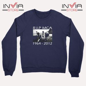 Buy Sweatshirt Rip Mca Check Your Head Beastie Boys Size S-XL Navy