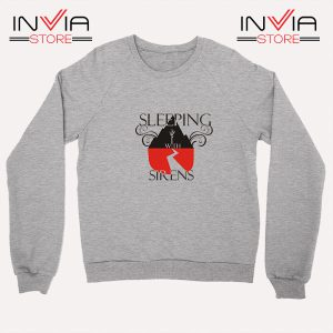 Buy Sweatshirt Sleeping With Sirens Band Sweater Size S-XL Grey