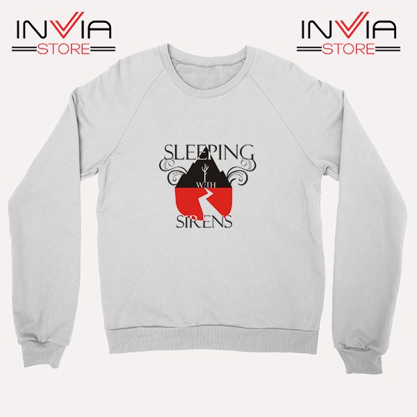 Buy Sweatshirt Sleeping With Sirens Band Sweater Size S-XL White