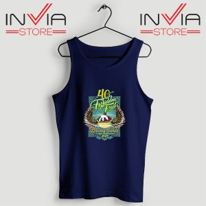 Buy Tank Top Blazing Salads 40th Year Custom Size S-XL Navy