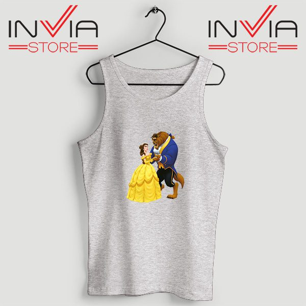Buy Tank Top Disney Beauty And The Beast Custom Size S-XL Grey