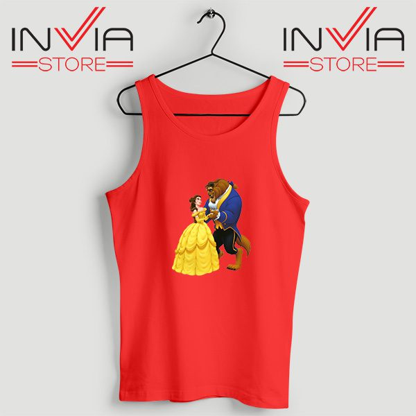 Buy Tank Top Disney Beauty And The Beast Custom Size S-XL Red