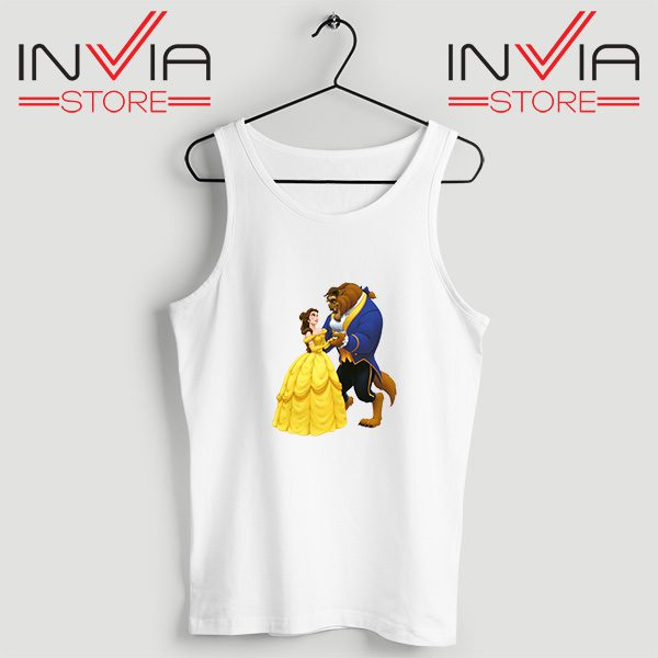 Buy Tank Top Disney Beauty And The Beast Custom Size S-XL White