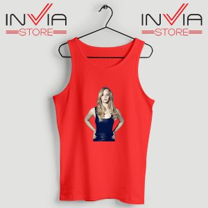 Buy Tank Top Funny Famous Face Jennifer Lawrence Size S-XL Red