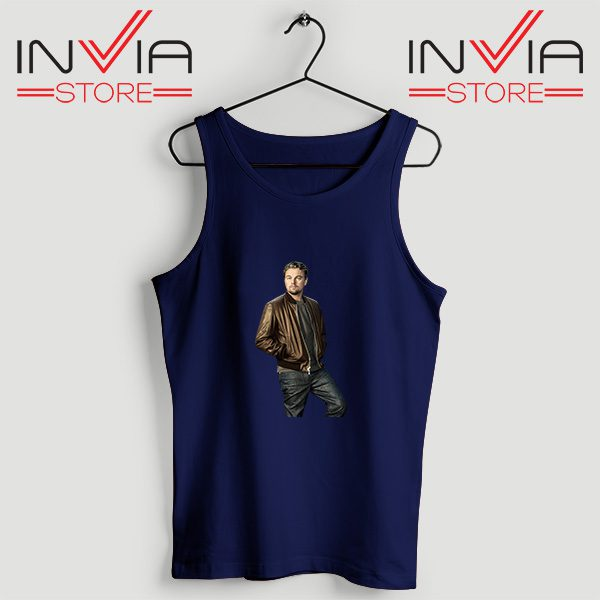 Buy Tank Top Leonardo DiCaprio Inspired by Actor Size S-XL Navy
