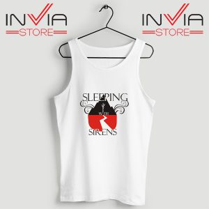 Buy Tank Top Sleeping With Sirens Band Custom Size S-XL White