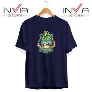 Buy Tshirt Blazing Salads 40th Year Tee Shirt Size S-XL Navy