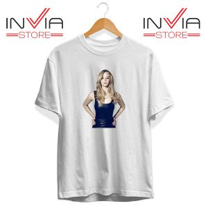 Buy Tshirt Funny Famous Face Jennifer Lawrence Size S-XL White