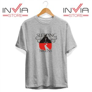 Buy Tshirt Sleeping With Sirens Band Tee Shirt Size S-3XL Grey