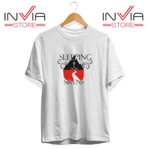 Buy Tshirt Sleeping With Sirens Band Tee Shirt Size S-3XL White