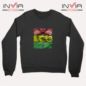 Buy Sweatshirt Blaze Rasta Girl Fassion Weed Sweater Size S-XL Black