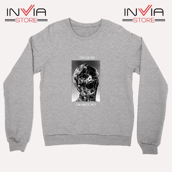 Buy Sweatshirt I Can See You Can You See Me Sweater Size S-XL Grey