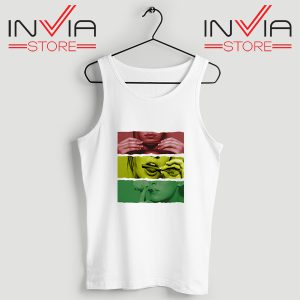 Buy Tank Top Blaze Rasta Girl Fassion Weed Custom Size S-XL White