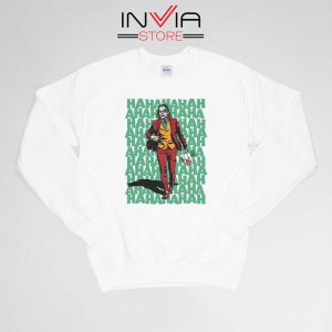 Buy Sweatshirt Hahahaha Joker Sweater Size S-XL White