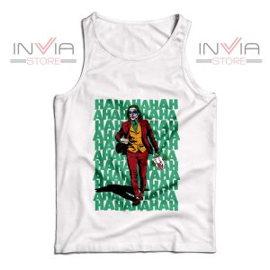 Buy Tank Top Hahahaha Joker Custom Size S-XL White