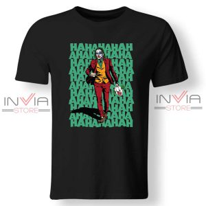 Buy Tshirt Hahahaha Joker Tee Shirt Size S-XL Black