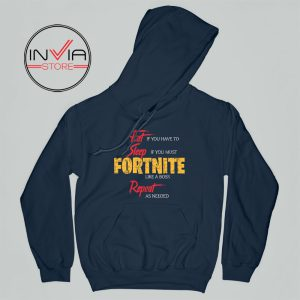 Best Hoodie Eat Sleep Fortnite Repeat Adult Unisex Navy
