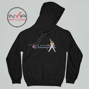 Best Hoodie Freddie Mercury We Are The Champion Adult Unisex Black