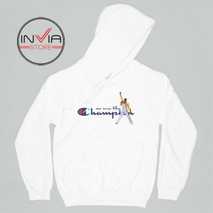Best Hoodie Freddie Mercury We Are The Champion Adult Unisex White