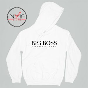 Big Boss Mother Gift Base Hoodie Funny Adult Unisex White