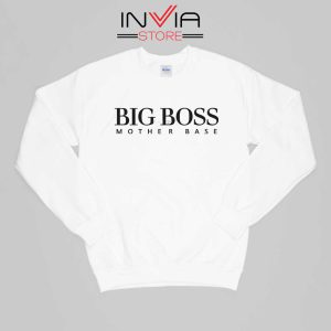 Big Boss Mother Gift Base Sweatshirt Funny Size S-XL White